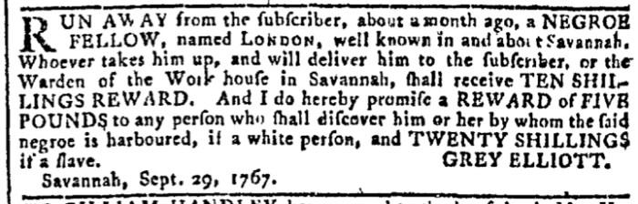 Sep 30 - 9:30:1767 Georgia Gazette