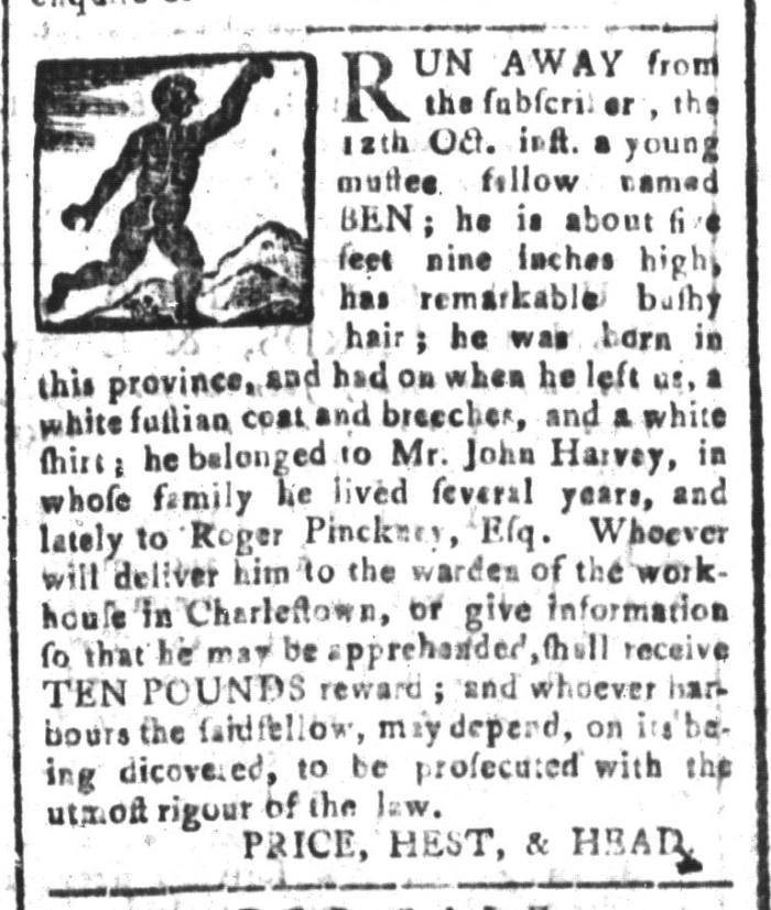 Nov 13 - South-Carolina and American General Gazette Slavery 3