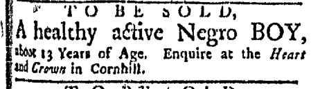 Nov 16 - Boston Evening-Post Slavery 3