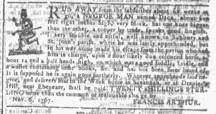 Nov 18 - Georgia Gazette Slavery 5