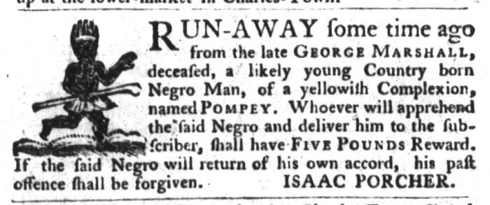 Oct 20 - South-Carolina Gazette and Country Journal Slavery 13