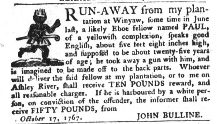 Oct 20 - South-Carolina Gazette and Country Journal Slavery 5