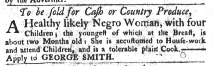 Oct 27 - South-Carolina Gazette and Country Journal Slavery 3