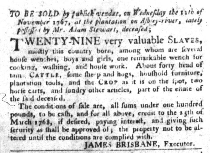 Oct 27 - South-Carolina Gazette and Country Journal Slavery 6