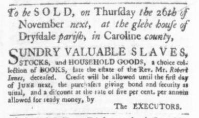 Oct 29 - Virginia Gazette Slavery 4
