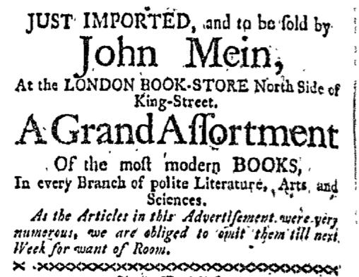 Oct 5 - 10:5:1767 Boston-Gazette