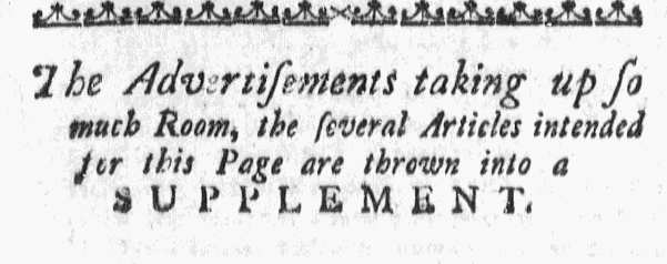 Oct 8 - 10:8:1767 Massachusetts Gazette