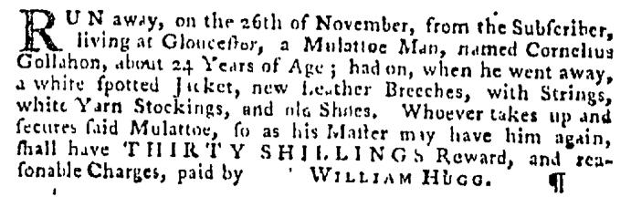 Dec 10 - Pennsylvania Gazette Supplement Slavery 1