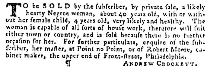 Dec 10 - Pennsylvania Gazette Supplement Slavery 2