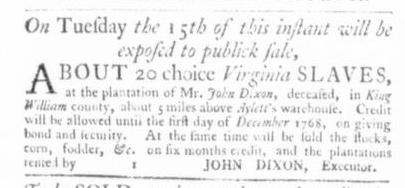 Dec 10 - Virginia Gazette Slavery 4