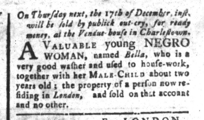 Dec 11 - South-Carolina and American General Gazette Slavery 4