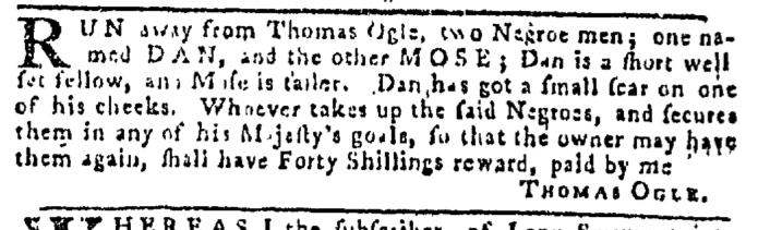 Dec 17 - Pennsylvania Gazette Slavery 1