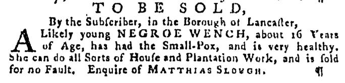 Dec 17 - Pennsylvania Gazette Supplement Slavery 1