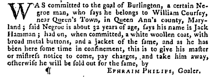 Dec 17 - Pennsylvania Gazette Supplement Slavery 2