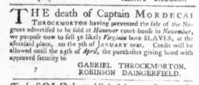 Dec 17 - Virginia Gazette Slavery 6