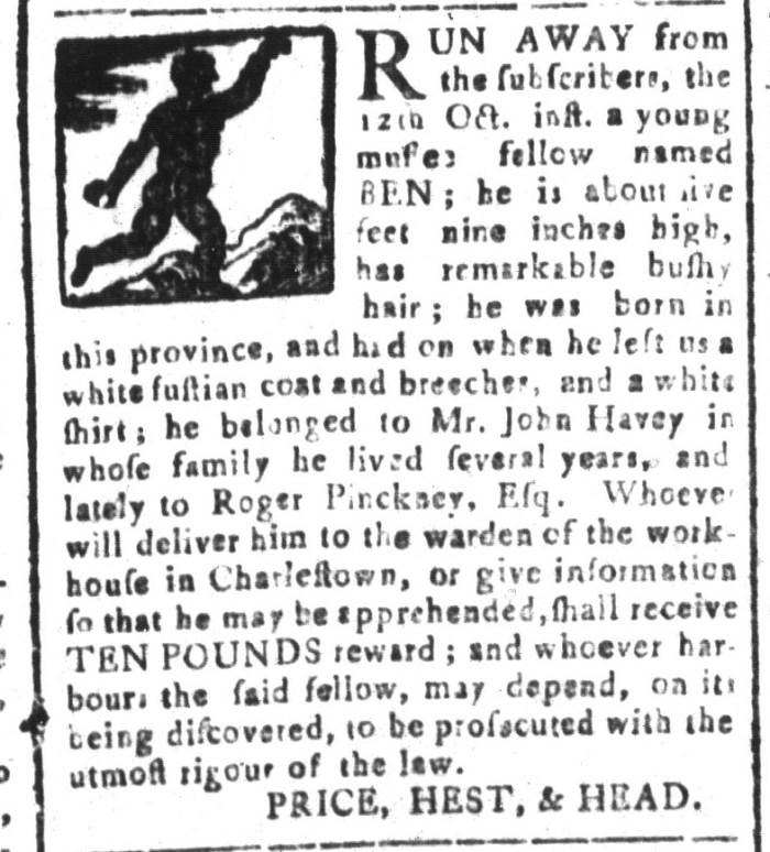 Dec 18 - South-Carolina and American General Gazette Slavery 6
