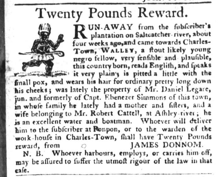 Dec 22 - South-Carolina Gazette and Country Journal Slavery 2
