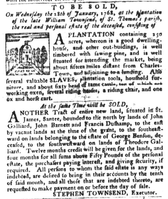Dec 22 - South-Carolina Gazette and Country Journal Slavery 5