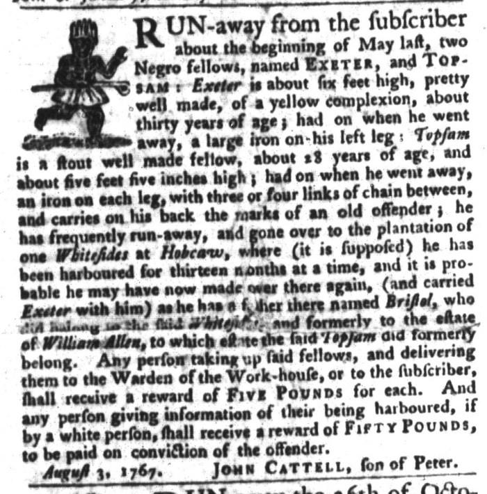 Dec 22 - South-Carolina Gazette and Country Journal Slavery 9
