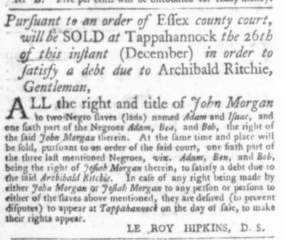 Dec 24 - Virginia Gazette P&D Slavery 4