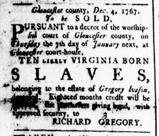 Dec 24 - Virginia Gazette Rind Slavery 5