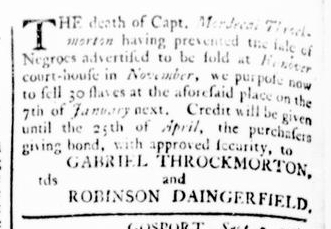 Dec 24 - Virginia Gazette Rind Slavery 7