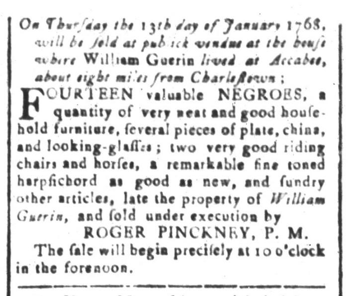 Dec 25 - South-Carolina and American General Gazette Slavery 4
