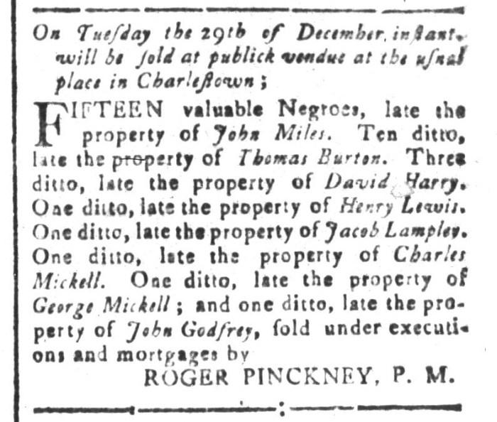 Dec 25 - South-Carolina and American General Gazette Slavery 8