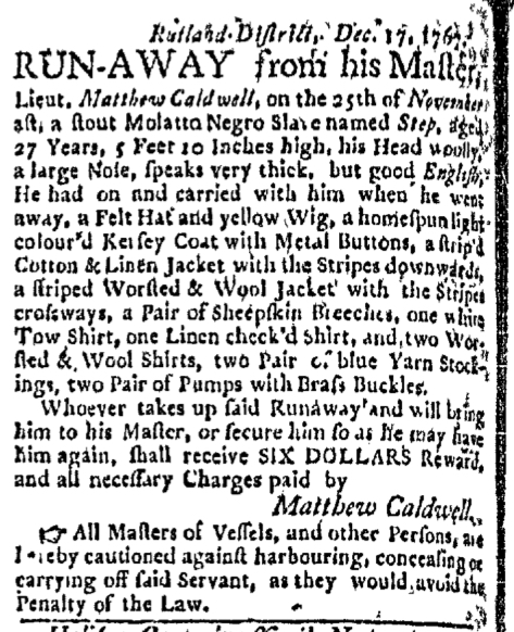 Dec 28 - Boston Evening-Post Slavery 2