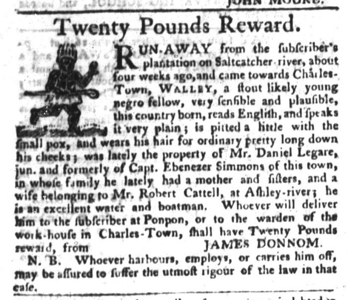 Dec 29 - South-Carolina Gazette and Country Journal Slavery 6