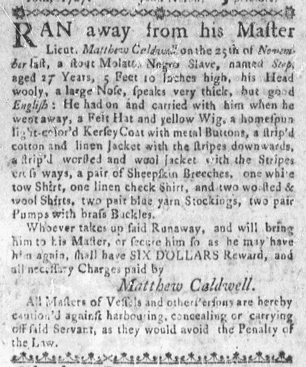 Dec 31 - Massachusetts Gazette Slavery 1