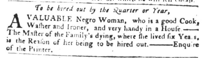 Dec 8 - South-Carolina Gazette and Country Journal Supplement Slavery 9
