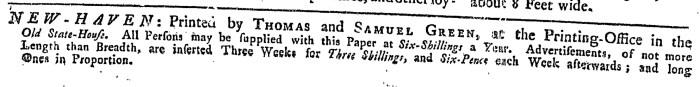 Nov 13 - 11:13:1767 Connecticut Journal
