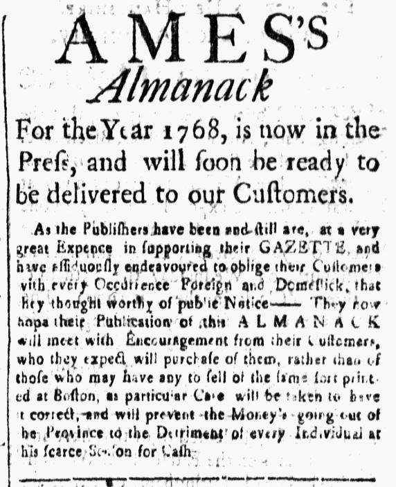 Nov 22 - 11:20:1767 New-Hampshire Gazette