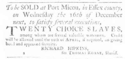 Nov 26 - Virginia Gazette Slavery 3