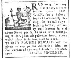 Nov 27 - South-Carolina and American General Gazette Slavery 1