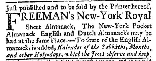 Nov 29 - 11:26:1767 New-York Journal