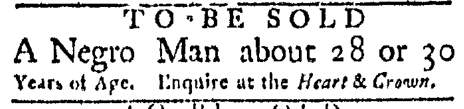 Nov 30 - Boston Evening-Post Slavery 1