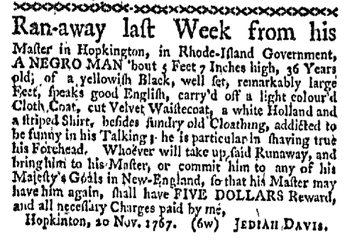 Nov 30 - Boston-Gazette Slavery 1