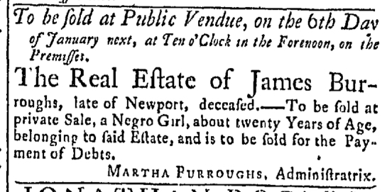 Nov 30 - Newport Mercury Slavery 1