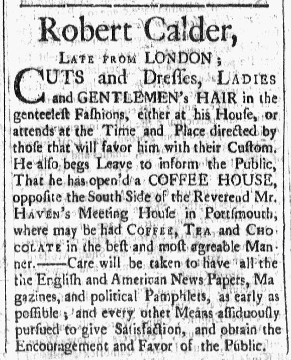 Nov 6 - 11:6:1767 New-Hampshire Gazette