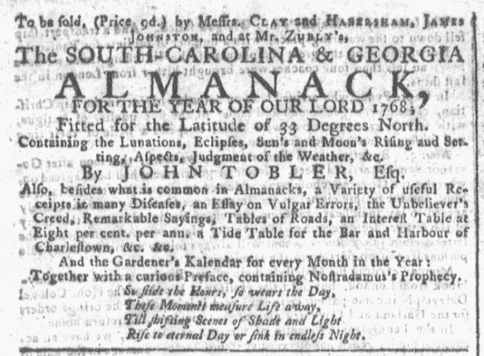 Dec 16 - 12:16:1767 Georgia Gazette