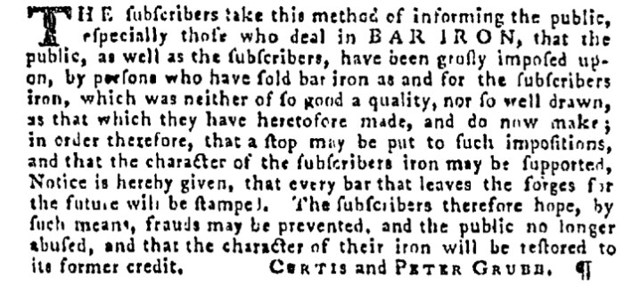 Dec 31 - 12:31:1767 Pennsylvania Gazette Supplement