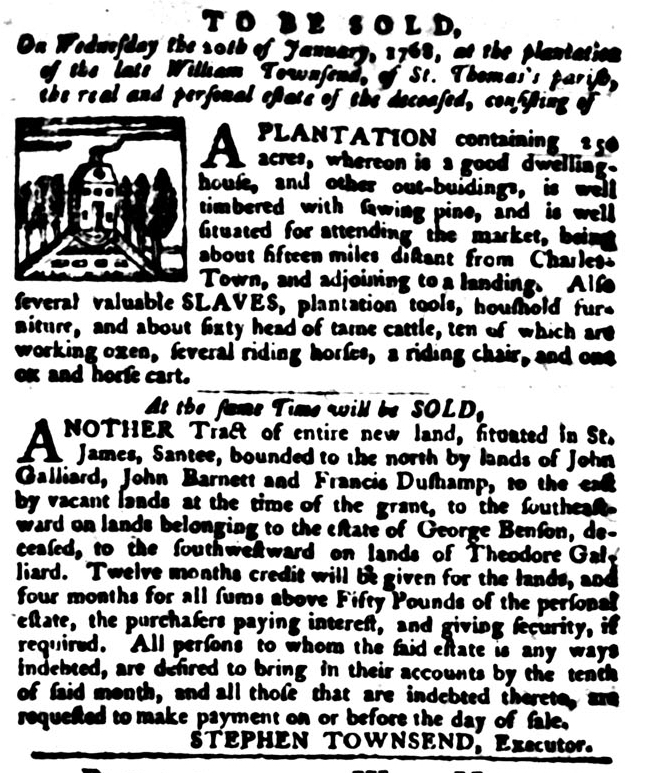 Jan 12 - South-Carolina Gazette and Country Journal Supplement Slavery 7
