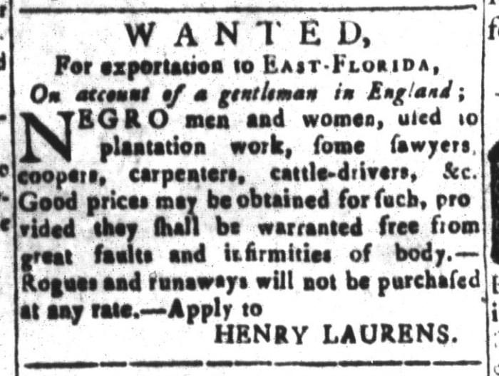Jan 22 - South-Carolina and American General Gazette Slavery 14