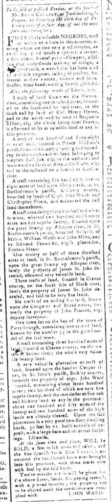 Jan 22 - South-Carolina and American General Gazette Slavery 4