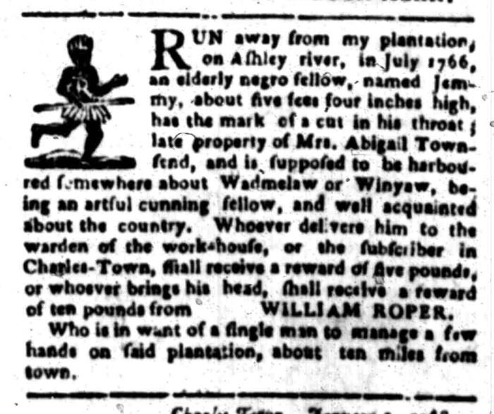 Jan 25 - South Carolina Gazette Slavery 6