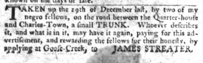 Jan 26 - South-Carolina Gazette and Country Journal Slavery 2