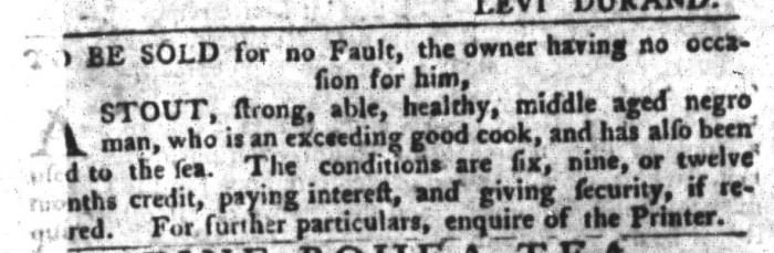 Jan 26 - South-Carolina Gazette and Country Journal Supplement Slavery 2