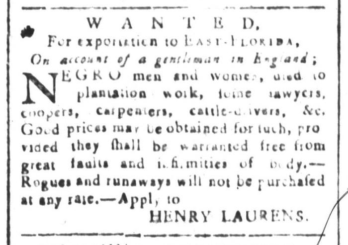 Jan 29 - South-Carolina and American General Gazette Slavery 5